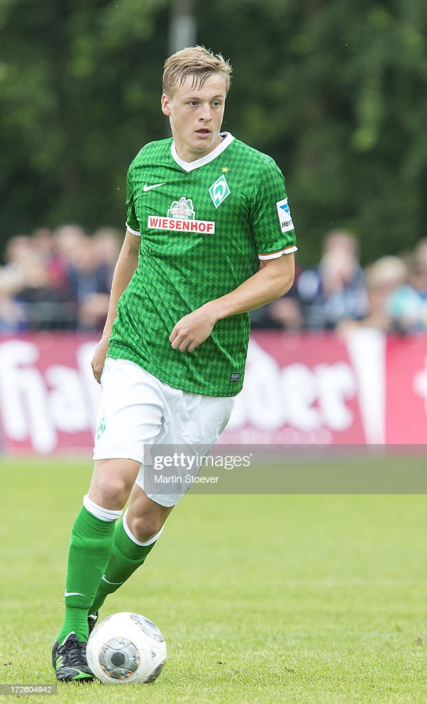 Felix Kroos of Bremen plays the ball during the preseason friendly match between SV Concordia Suurhusen and Werder Bremen at Sportplatz an der Muehle...