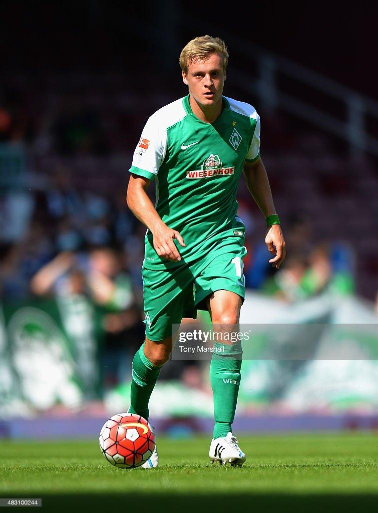 Felix Kroos of SV Werder Bremen during the Betway Cup match between West Ham Utd and SV Werder Bremen at Boleyn Ground on August 2 2015 in London...