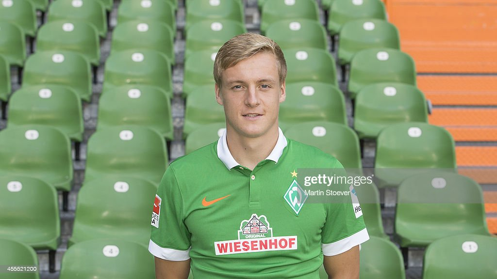 Felix Kroos pose during the official team photo at Weserstadion on September 14 2014 in Bremen Germany