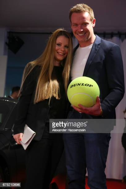 Felix Loch arrives with Lisa Loch at the Players Night of the 102 BMW Open by FWU at Iphitos tennis club on April 30 2017 in Munich Germany