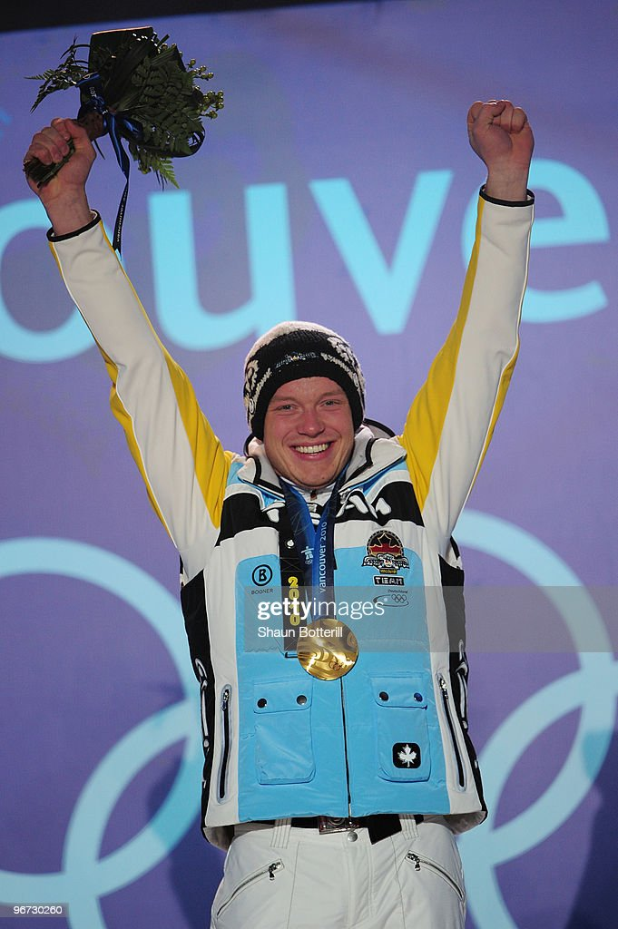 <a gi-track='captionPersonalityLinkClicked' href=/galleries/search?phrase=Felix+Loch&family=editorial&specificpeople=4840944 ng-click='$event.stopPropagation()'>Felix Loch</a> of Germany celebrates with the gold medal during the medal ceremony for the men�s luge singles at Whistler Medal Plaza on day 4 of the 2010 Winter Olympics on February 15, 2010 in Whistler, Canada.