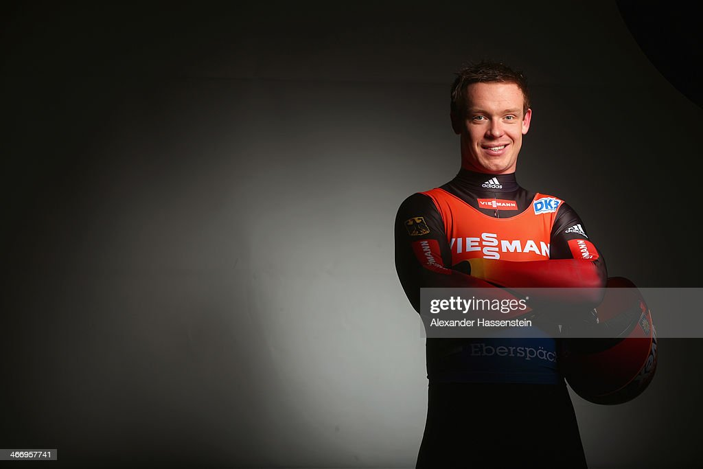 <a gi-track='captionPersonalityLinkClicked' href=/galleries/search?phrase=Felix+Loch&family=editorial&specificpeople=4840944 ng-click='$event.stopPropagation()'>Felix Loch</a> pose during a photo call on January 6, 2014 in Berchtesgaden, Germany.