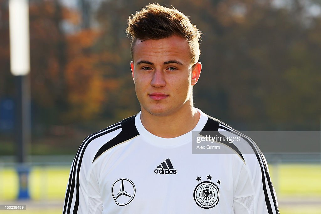 Felix Lohkemper poses during the Germany U18 team presentation at Commerzbank Arena on November 12, 2012 in Frankfurt am Main, Germany.