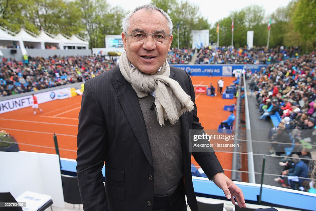 Felix Magath attends the final match between Dominic Thiem of Austria and <a gi-track='captionPersonalityLinkClicked' href=/galleries/search?phrase=Philipp+Kohlschreiber&family=editorial&specificpeople=225202 ng-click='$event.stopPropagation()'>Philipp Kohlschreiber</a> of Germany of the BMW Open at Iphitos tennis club on May 1, 2016 in Munich, Germany.