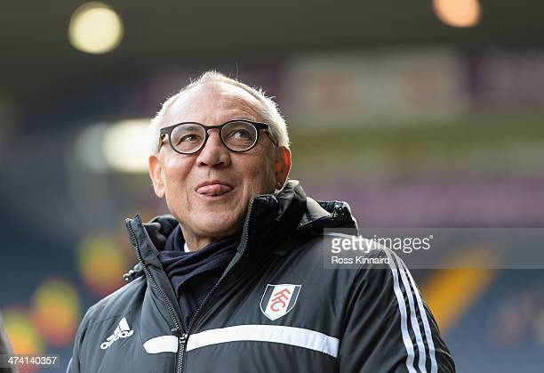Felix Magath the manager of Fulham before the Barclays Premier League match between West Bromwich Albion and Fulham at The Hawthorns on February 22...