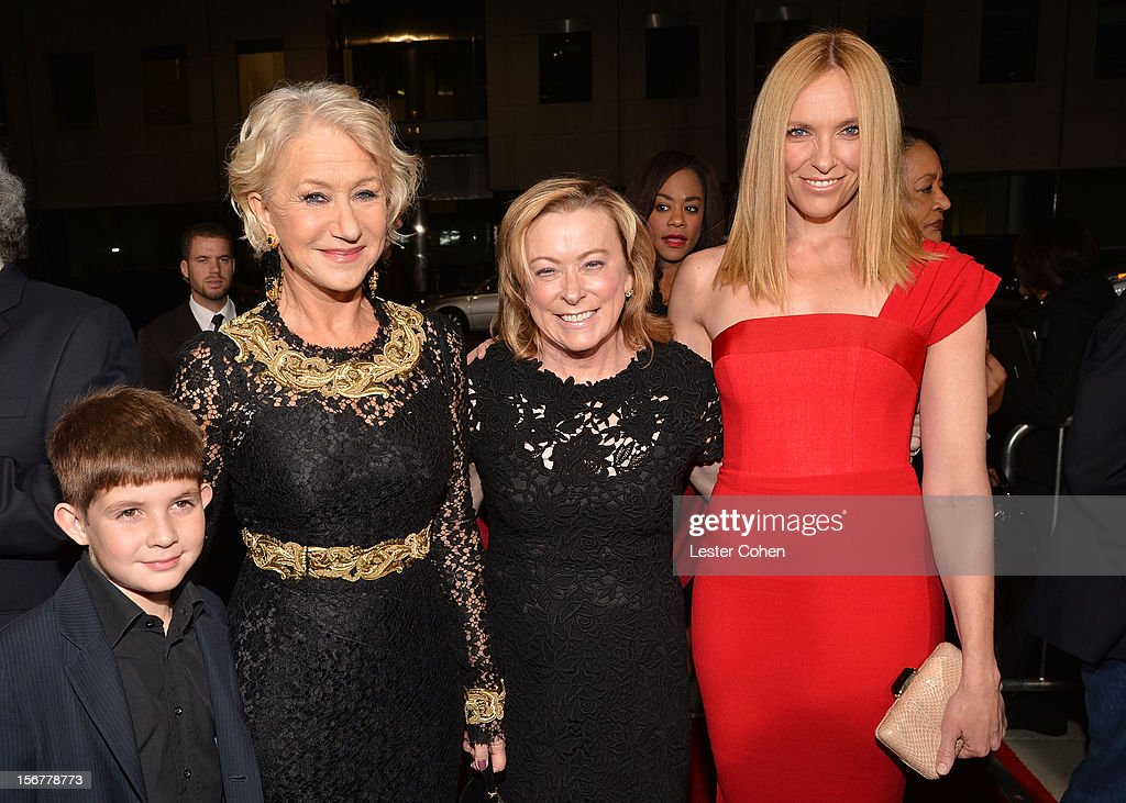 Felix Mirren, Dame <a gi-track='captionPersonalityLinkClicked' href=/galleries/search?phrase=Helen+Mirren&family=editorial&specificpeople=201576 ng-click='$event.stopPropagation()'>Helen Mirren</a>, Fox Searchlight President <a gi-track='captionPersonalityLinkClicked' href=/galleries/search?phrase=Nancy+Utley&family=editorial&specificpeople=705439 ng-click='$event.stopPropagation()'>Nancy Utley</a> and actress <a gi-track='captionPersonalityLinkClicked' href=/galleries/search?phrase=Toni+Collette&family=editorial&specificpeople=204673 ng-click='$event.stopPropagation()'>Toni Collette</a> arrive at the premiere of Fox Searchlight Pictures' 'Hitchcock' at the Academy of Motion Picture Arts and Sciences Samuel Goldwyn Theater on November 20, 2012 in Beverly Hills, California.