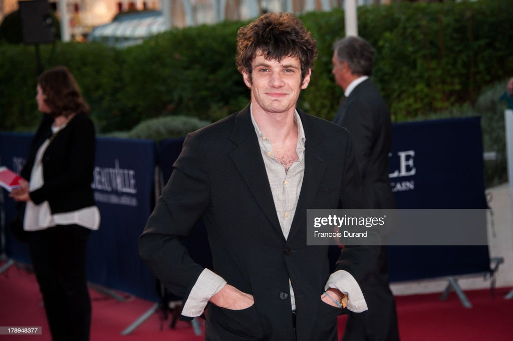 Felix Moati arrives at the premiere of the movie 'Blue Jasmine' during the 39th Deauville American film festival on August 31, 2013 in Deauville, France.