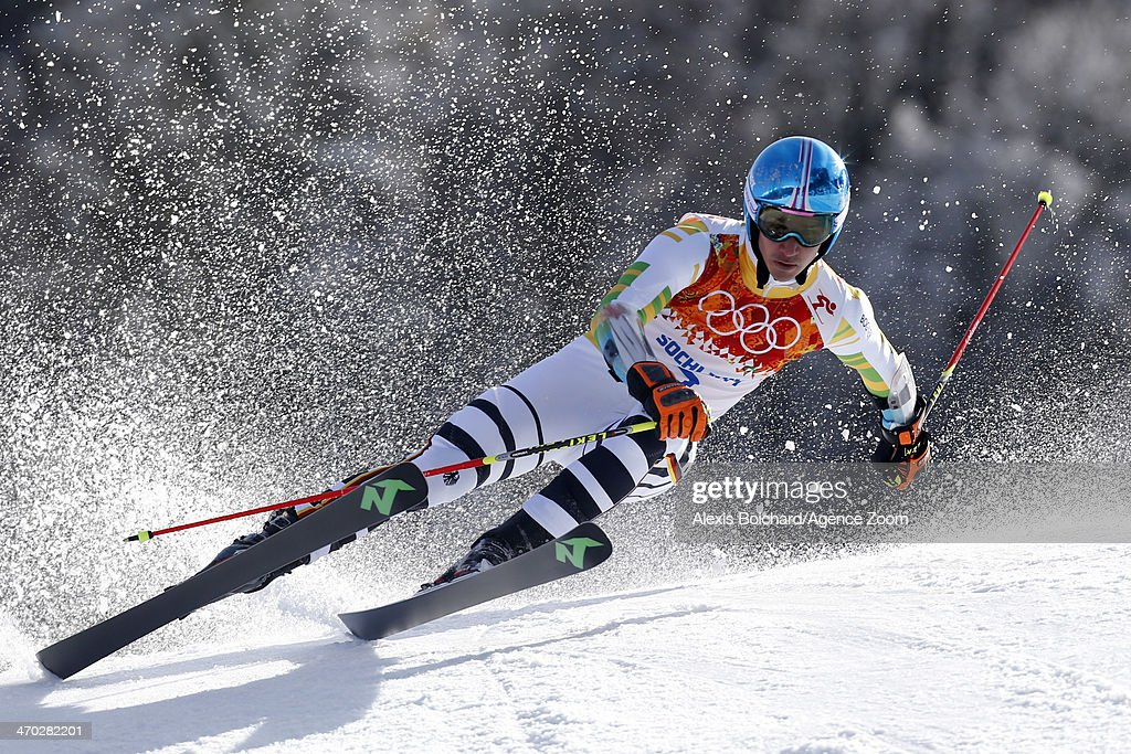 Felix Neureuther of Germany competes during the Alpine Skiing Men's Giant Slalom at the Sochi 2014 Winter Olympic Games at Rosa Khutor Alpine Centre on February 19, 2014 in Sochi, Russia.