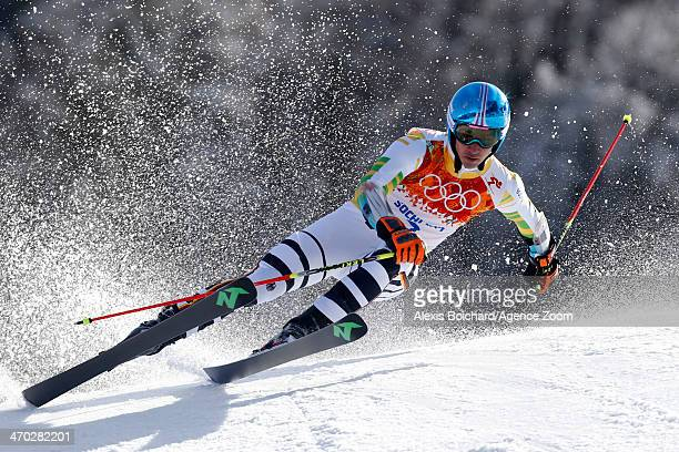 Felix Neureuther of Germany competes during the Alpine Skiing Men's Giant Slalom at the Sochi 2014 Winter Olympic Games at Rosa Khutor Alpine Centre...
