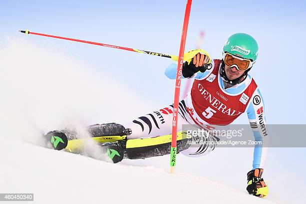 Felix Neureuther of Germany competes during the Audi FIS Alpine Ski World Cup Men's Slalom on December 14 2014 in Are Sweden