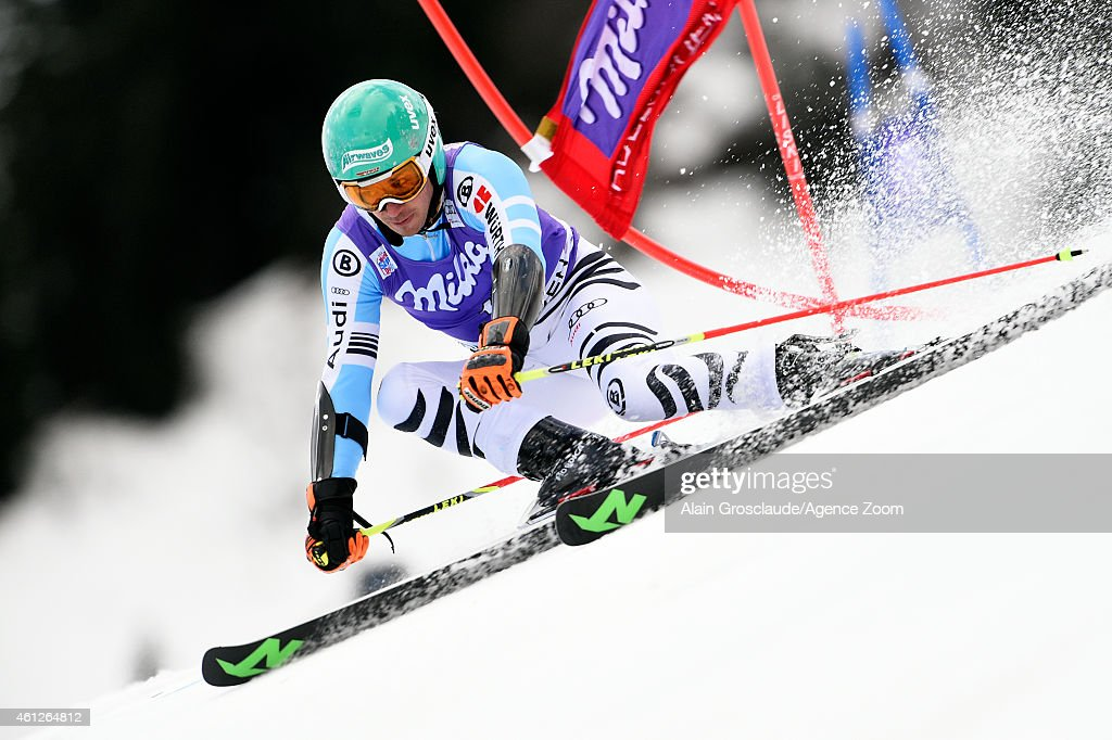 <a gi-track='captionPersonalityLinkClicked' href=/galleries/search?phrase=Felix+Neureuther&family=editorial&specificpeople=807800 ng-click='$event.stopPropagation()'>Felix Neureuther</a> of Germany competes during the Audi FIS Alpine Ski World Cup Men's Giant Slalom on January 10, 2015 in Adelboden, Switzerland.