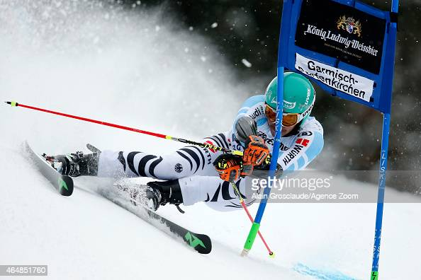 Felix Neureuther of Germany competes during the Audi FIS Alpine Ski World Cup Men's Giant Slalom on March 01 2015 in GarmischPartenkirchen Germany