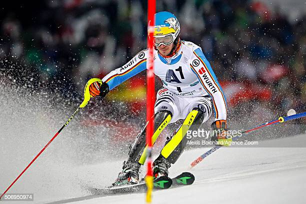 Felix Neureuther of Germany competes during the Audi FIS Alpine Ski World Cup Men's Slalom on January 26 2016 in Schladming Austria