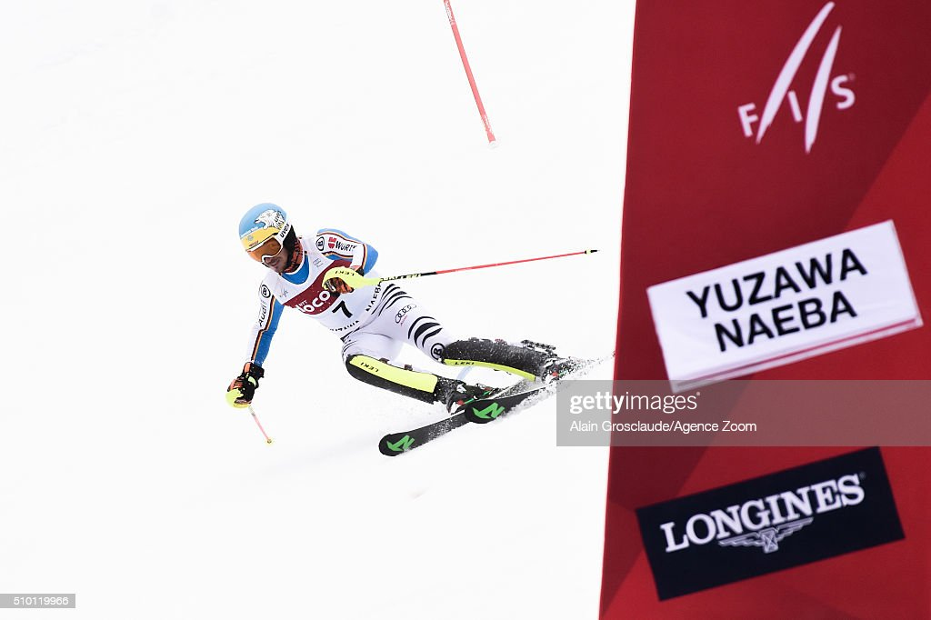 <a gi-track='captionPersonalityLinkClicked' href=/galleries/search?phrase=Felix+Neureuther&family=editorial&specificpeople=807800 ng-click='$event.stopPropagation()'>Felix Neureuther</a> of Germany competes during the Audi FIS Alpine Ski World Cup Men's Slalom on February 14, 2016 in Naeba, Japan.