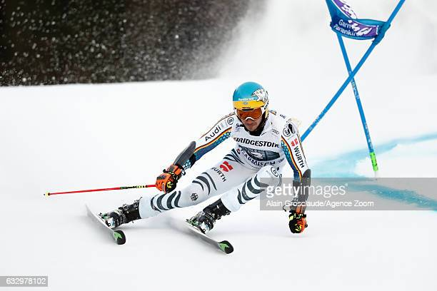 Felix Neureuther of Germany competes during the Audi FIS Alpine Ski World Cup Men's Giant Slalom on January 29 2017 in GarmischPartenkirchen Germany