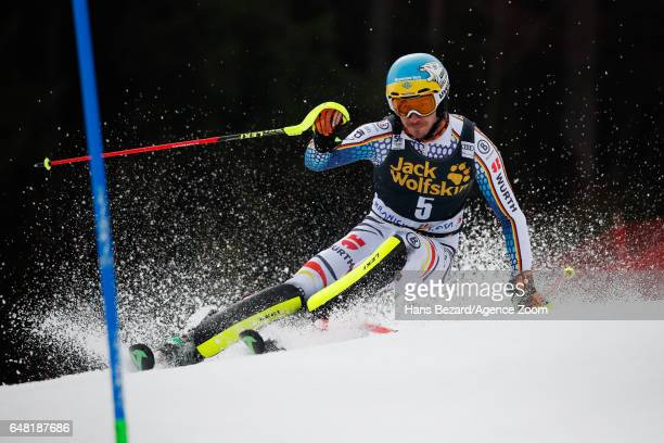 Felix Neureuther of Germany competes during the Audi FIS Alpine Ski World Cup Men's Slalom on March 05 2017 in Kranjska Gora Slovenia
