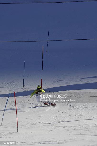 Felix Neureuther of Germany during the Audi FIS Alpine Ski World Cup Men's Slalom December 12 2010 in Val d'Isere France