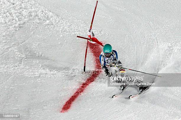 Felix Neureuther of Germany takes 1st place during the Audi FIS Alpine Ski World Cup Men's and Women's Parallel Slalom on January 1 2013 in Munich...