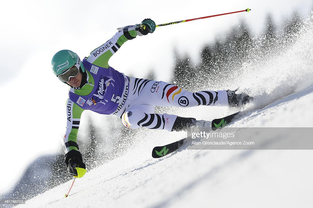 <a gi-track='captionPersonalityLinkClicked' href=/galleries/search?phrase=Felix+Neureuther&family=editorial&specificpeople=807800 ng-click='$event.stopPropagation()'>Felix Neureuther</a> of Germany takes 1st place during the Audi FIS Alpine Ski World Cup Men's Giant Slalom on January 11, 2014 in Adelboden, Switzerland.