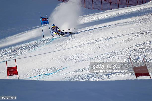 Felix Neureuther of Germany takes 2nd place during the Audi FIS Alpine Ski World Cup Men's Giant Slalom on December 12 2015 in Val d'Isere France