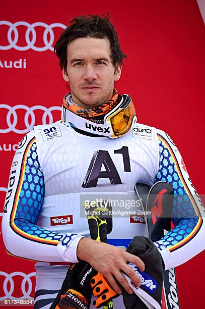 Felix Neureuther of Germany takes 3rd place during the Audi FIS Alpine Ski World Cup Men's Giant Slalom on October 23 2016 in Soelden Austria