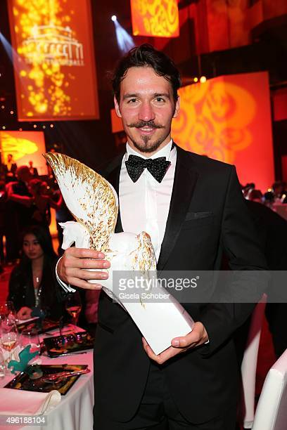 Felix Neureuther with Meissen Pegasos Award during the German Sports Media Ball at Alte Oper on November 7 2015 in Frankfurt am Main Germany