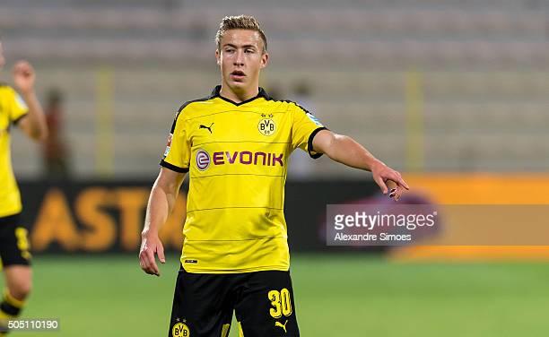 Felix Passlack of Borussia Dortmund during the preseason friendly match between Jeonbuk Hyundai Motors v Borussia Dortmund at Al Was Stadium during...