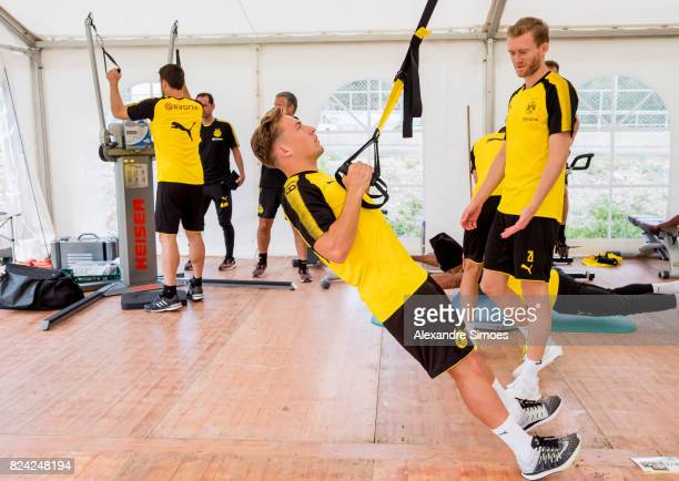 Felix Passlack of Borussia Dortmund in action during a training session as part of the training camp on July 29 2017 in Bad Ragaz Switzerland