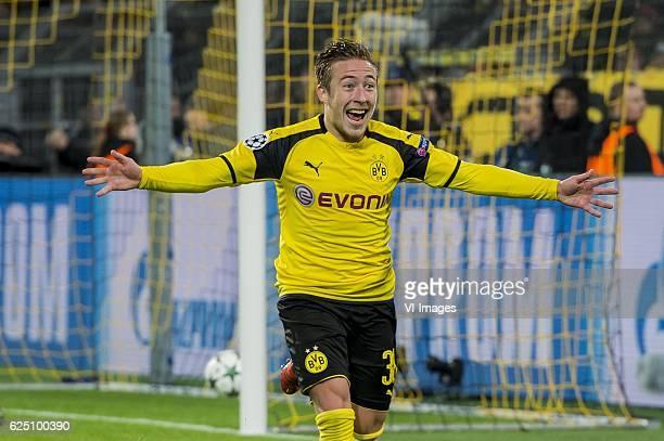 Felix Passlack of Borussia Dortmundduring the UEFA Champions League group F match between Borussia Dortmund and Legia Warsaw on November 22 2016 at...