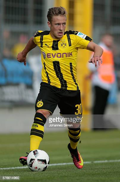 Felix Passlack of Dortmund in action during the friendly match between TSV 1860 Muenchen and BVB Borussia Dortmund at Stadion an der Gruenwalder...
