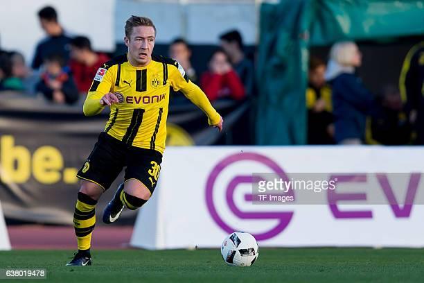 Felix Passlack of Dortmund in action during the friendly match between Borussia Dortmund v PSV Eindhoven Friendly Match at Estadio Municipal La Linea...