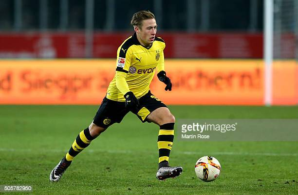 Felix Passlack of Dortmund runs with the ball during the friendly match between Borussia Dortmund and Sparta Prague at at Stadium Essen on January 19...