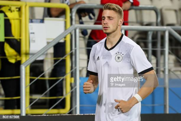 Felix Platte of Germany during the UEFA European Under21 Championship Group C match between Germany and Denmark at Krakow Stadium on June 21 2017 in...