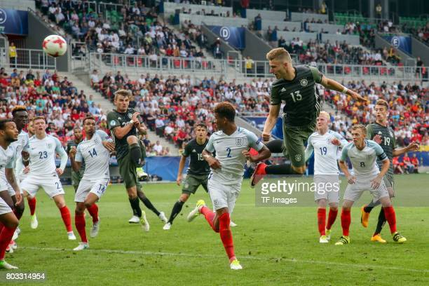 Felix Platte of Germany scores the second goal during the UEFA European Under21 Championship Semi Final match between England and Germany at Tychy...