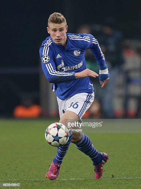 Felix Platte of Schalke 04 during the round of 16 UEFA Champions League match between Schalke 04 and Real Madrid on February 18 2015 at the Veltins...