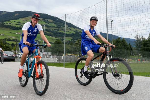 Felix Platte of Schalke Fabian Reese of Schalke looks on during the Training Camp of FC Schalke 04 on July 29 2017 in Mittersill Austria