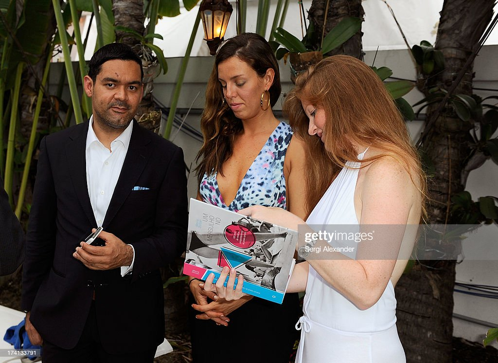 Felix Polanco, Fabiana Poula, and Lisa Reidt attend the ABEST & ABIT Brazilian Swimwear Designers Cocktail Party during Mercedes-Benz Fashion Week Swim 2014 at The Raleigh on July 20, 2013 in Miami, Florida.