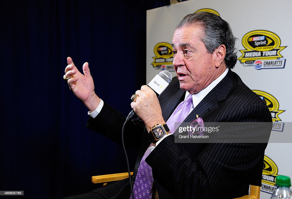 Felix Sabates, co-owner of Chip Ganassi Racing with Felix Sabates, speaks with the media during the NASCAR Sprint Media Tour at Charlotte Convention Center on January 28, 2014 in Charlotte, North Carolina.