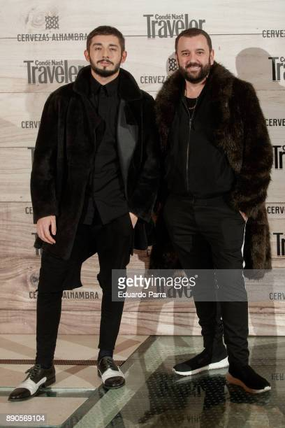 Felix Sabroso and Jau Fornes attend the 'Conde Nast Traveler Gastronomic and Wine Guide' photocall at Florida Retiro on December 11 2017 in Madrid...