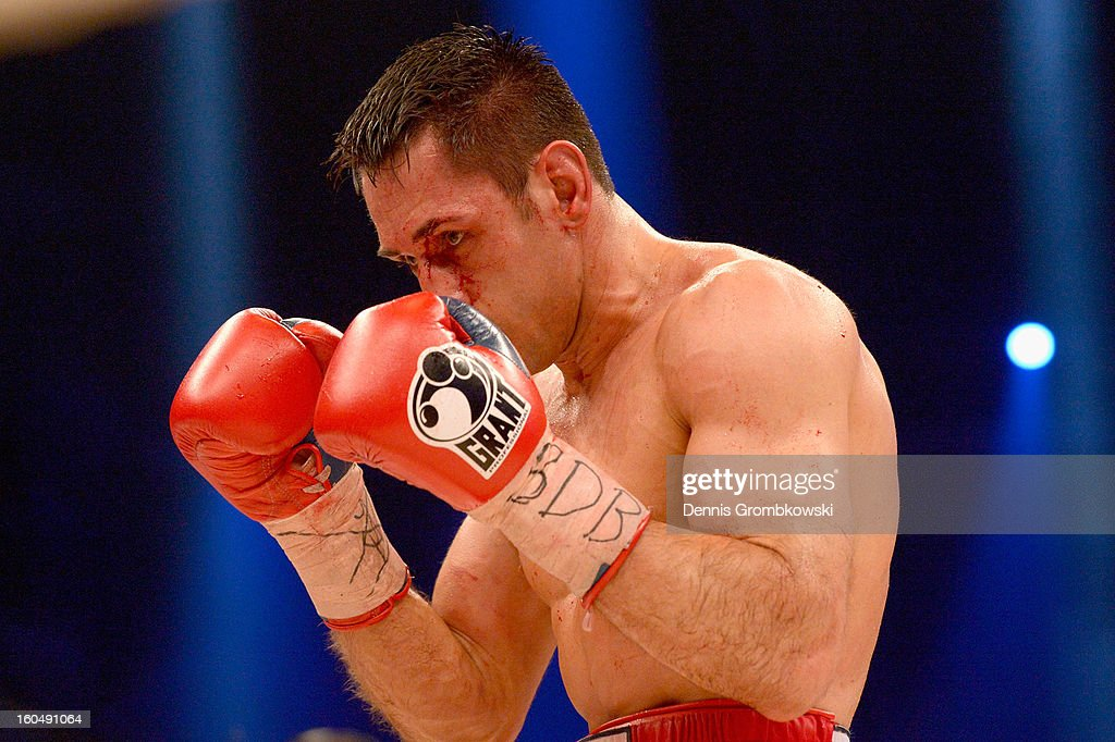 Felix Sturm of Germany boxes during his IBF Middleweight Eliminator fight against Sam Soliman of Australia at ISS Dome on February 1, 2013 in Duesseldorf, Germany.