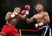 Felix 'Tito' Trinidad Jr fights Ricardo Mayorga for the WBA North American and North American Boxing Council middleweight titles at Madison Square...