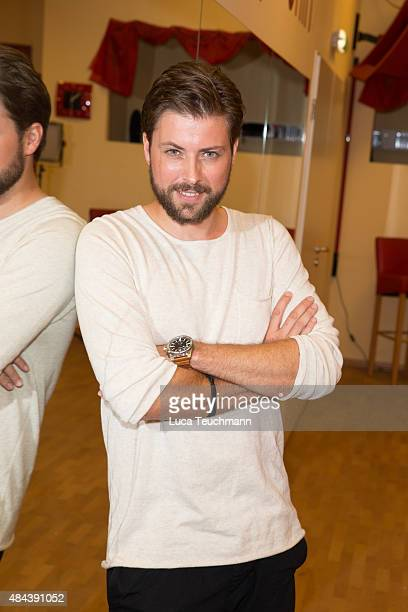 Felix von Jascheroff poses during a photo call for the TV show 'Stepping Out' on August 18 2015 in Berlin Germany The show will air on September 11...