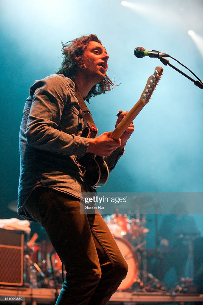 Felix White of The Maccabees performs on stage during Electric Picnic on August 31, 2012 in Stradbally, Ireland.