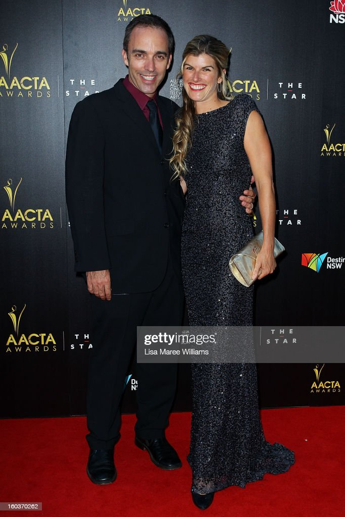 Felix Williamson and Liz Williamson arrive at the 2nd Annual AACTA Awards at The Star on January 30, 2013 in Sydney, Australia.