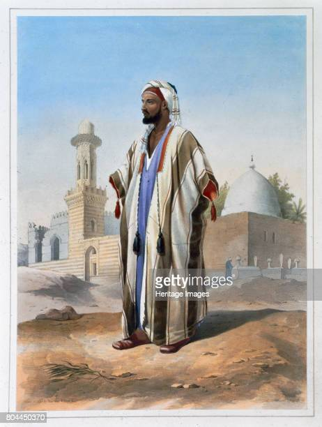A fellah dressed in a haba 1848 A fellah is a peasant farmer or agricultural labourer in Egypt and the Middle East Illustration from The Valley of...