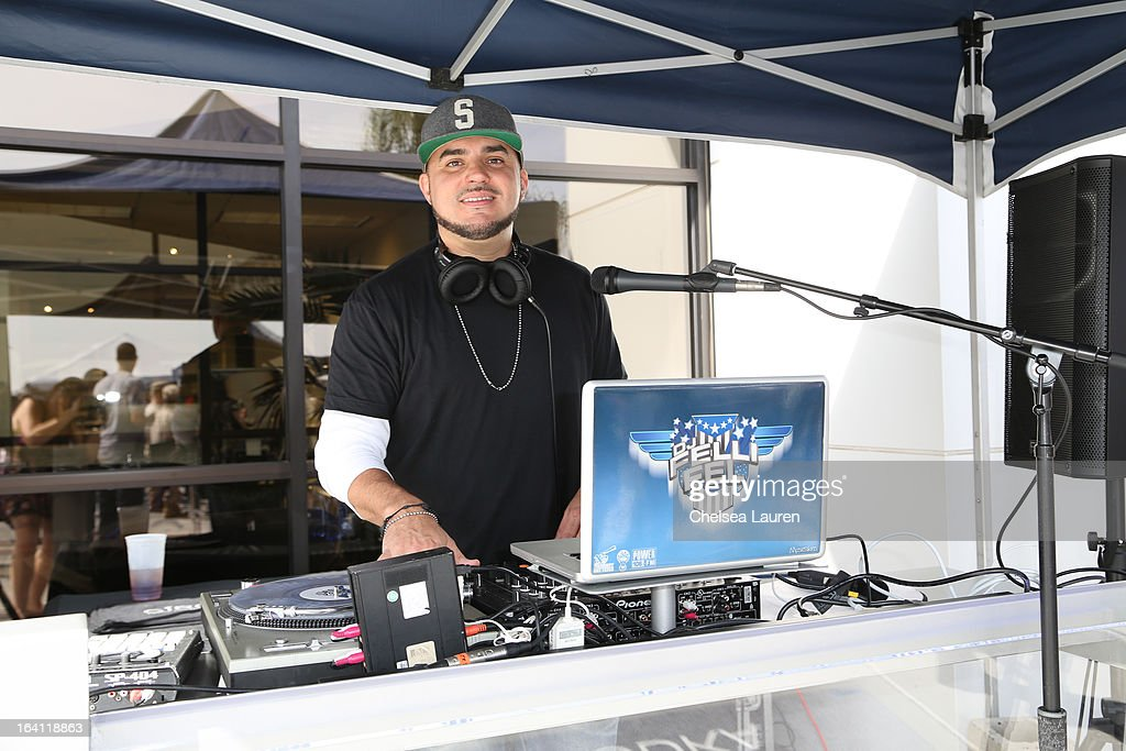 DJ Felli Fel performs at the Ciroc and Maxim celebration of the National Day of Honor at Miramar MCX Military Base on March 19, 2013 in San Diego, California.