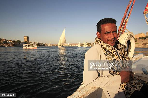 Felucca and owner