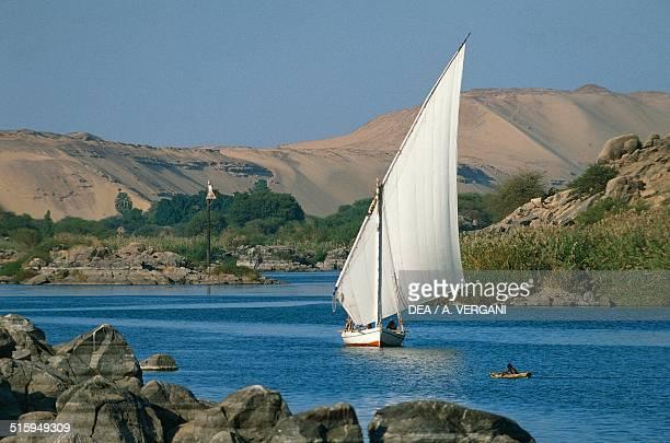 Felucca on the Nile river Aswan Egypt