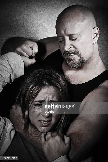 Mujeres víctimas de abusos que se recibió por el hombre