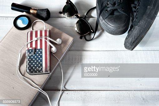 Hembra y accesorios : Foto de stock